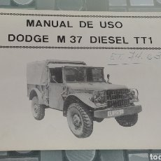 Carros e motociclos: MANUAL ORIGINAL DE USO DODGE M 37 DIESEL. Lote 277119958