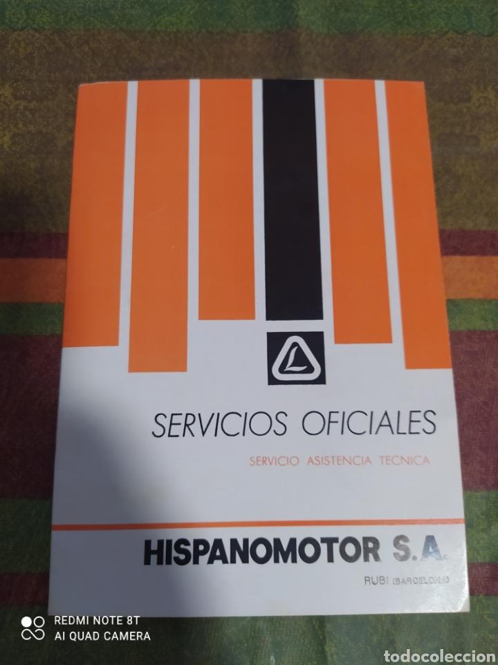 LIBRO SERVICIO ASISTENCIA TÉCNICA LOMBARDINI (Coches y Motocicletas Antiguas y Clásicas - Catálogos, Publicidad y Libros de mecánica)
