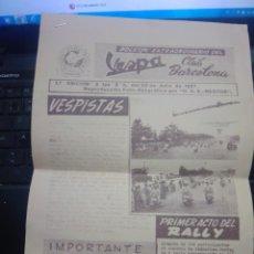 Coches y Motocicletas: 1ª EDICION - BOLETIN EXTRAORDINARIO DEL VESPA CLUB BARCELONA 20 JULIO 1957 - EUROVESPA. Lote 277618208