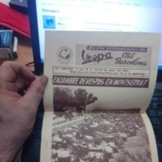 Coches y Motocicletas: 2ª EDICION - BOLETIN EXTRAORDINARIO DEL VESPA CLUB BARCELONA 21 JULIO 1957 - EUROVESPA. Lote 277619413