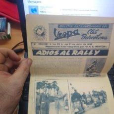 Coches y Motocicletas: 3ª EDICION - BOLETIN EXTRAORDINARIO DEL VESPA CLUB BARCELONA 21 JULIO 1957 - EUROVESPA -- RALLY. Lote 277619573