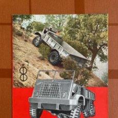 Carros e motociclos: DÍPTICO FOLLETO PUBLICIDAD CAMIONES BARREIROS DIESEL, MODELO TT.90.22, 1950-60S. Lote 277760943