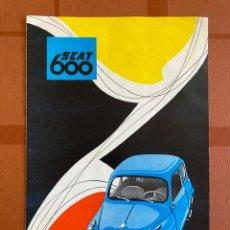 Carros e motociclos: FOLLETO DÍPTICO ILUSTRADO, PUBLICIDAD AUTOMÓVIL SEAT 600, 19 X 29 CM, ORIGINAL 1950-60S. Lote 277820663