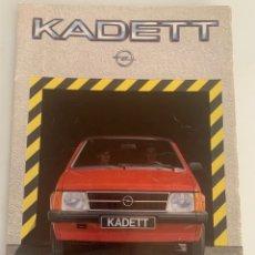 Coches y Motocicletas: CATALOGO FOLLETO PUBLICIDAD ORIGINAL OPEL KADETT GTE DELUXE BERLINA SR AÑOS 80. Lote 278370418