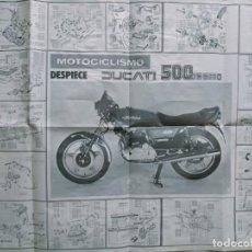 Coches y Motocicletas: DUCATI 5OO DESMO DESPIECE POSTRER MECANICA MOTO. Lote 278389303