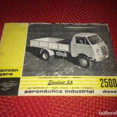 Coches y Motocicletas: CAMION LIGERO 2500 DIESEL - AERONÁUTICA INDUSTRIAL - CATÁLOGO - AÑO 1961 - DIESELCAR, S.A.. Lote 278871973