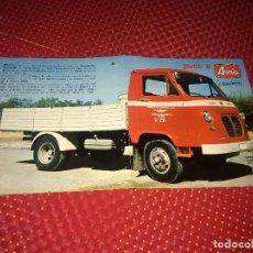Coches y Motocicletas: CAMION AVIA 2500 B - AERONÁUTICA INDUSTRIAL, S.A. - DÍPTICO PUBLICITARIO - AÑOS 60/70. Lote 278872418