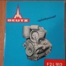 Coches y Motocicletas: MANUAL MOTOR DEURZ F2L912. Lote 278877123