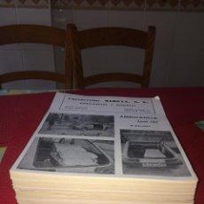Coches y Motocicletas: AMBULANCIA SEAT 127 - 3 PUERTAS - LOTE HOJAS DE IMPRENTA PUBLICITARIAS - AÑOS 70. Lote 278881488