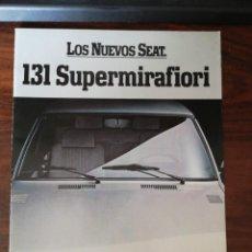 Automobili e Motociclette: SEAT 131 SUPERMIRAFIORI 1600 2000 2500 - CATALOGO FOLLETO PUBLICIDAD ORIGINAL - 1981 - ESPAÑOL. Lote 283362953