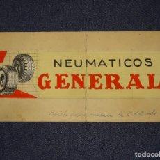 Coches y Motocicletas: (M) DIBUJO ORIGINAL PUBLICITARIO NEUMATICOS GENERAL, BOCETO PARA MOSAICO, AÑOS 30, NEUMATICOS COCHES. Lote 284581198
