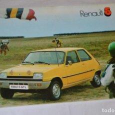 Coches y Motocicletas: AÑO 77 - ANTIGUO FOLLETO / CATÁLOGO / PUBLICIDAD RENAULT 5 / R5 - BUEN ESTADO ¡MIRA FOTOS/DETALLES!. Lote 284713928