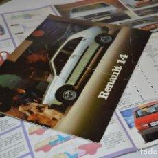 Coches y Motocicletas: AÑO 79, ANTIGUO FOLLETO / CATÁLOGO / PUBLICIDAD RENAULT 14 / R14 - BUEN ESTADO ¡MIRA FOTOS/DETALLES!. Lote 284719158