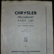Coches y Motocicletas: CATÁLOGO DE RECAMBIOS PARA CHRYSLER ORIGINAL DE 1935.. Lote 285612373