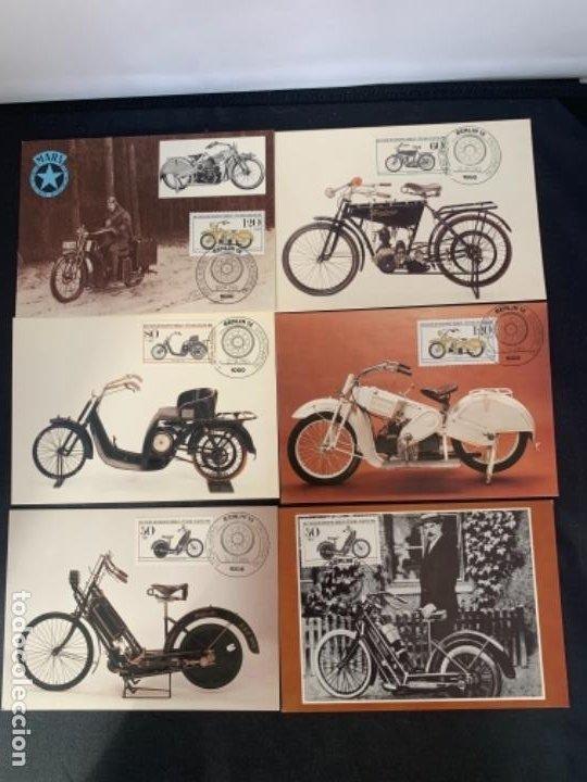 TARJETAS POSTALES MOTOCICLETAS MARS DKW EMISION FILATELICA 1983 (Coches y Motocicletas Antiguas y Clásicas - Catálogos, Publicidad y Libros de mecánica)