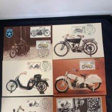 Coches y Motocicletas: TARJETAS POSTALES MOTOCICLETAS MARS DKW EMISION FILATELICA 1983. Lote 285747458