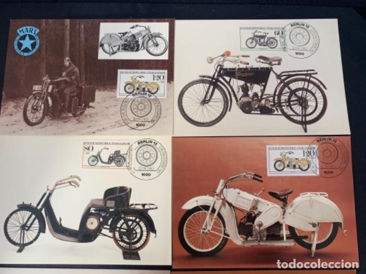 Coches y Motocicletas: TARJETAS POSTALES MOTOCICLETAS MARS DKW EMISION FILATELICA 1983 - Foto 2 - 285747458