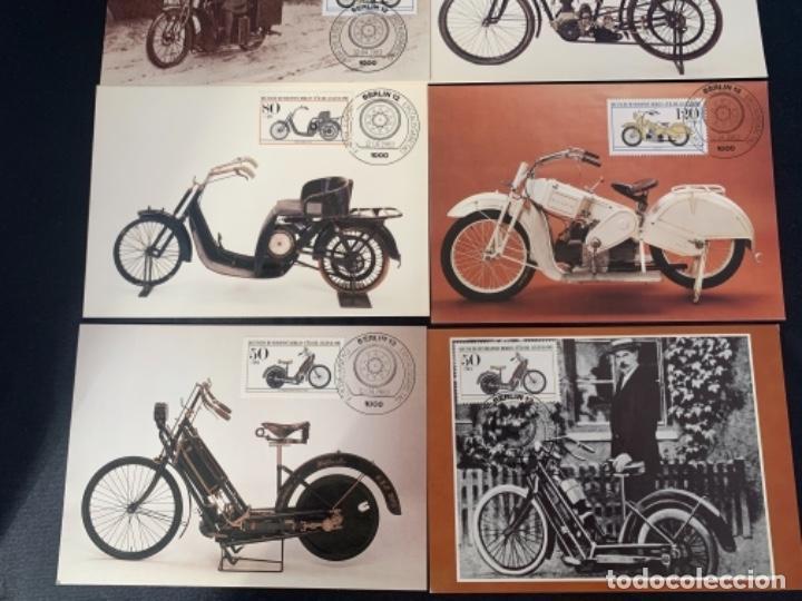 Coches y Motocicletas: TARJETAS POSTALES MOTOCICLETAS MARS DKW EMISION FILATELICA 1983 - Foto 3 - 285747458