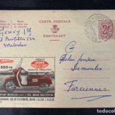 Coches y Motocicletas: TARJETA POSTAL MOTO JAWA BELGICA 1961. Lote 285749088