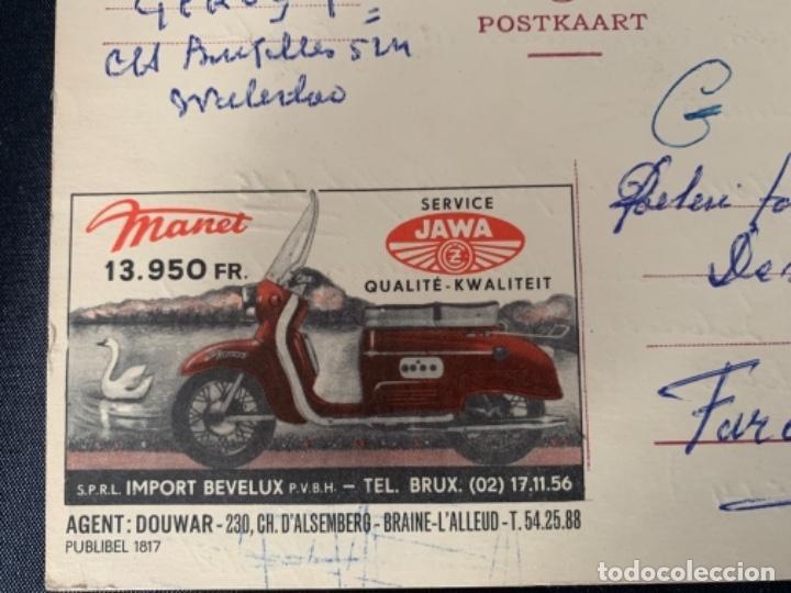 Coches y Motocicletas: TARJETA POSTAL MOTO JAWA BELGICA 1961 - Foto 2 - 285749088