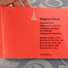 Coches y Motocicletas: CATÁLOGO DE REPUESTOS. MAGIRUS DEUTZ M 290, M 310, M 340. AÑOS 70. 235 PÁGINAS. EXCELENTE ESTADO.. Lote 287866433