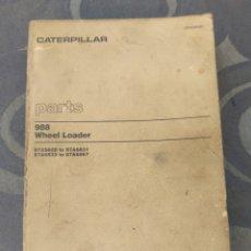 Coches y Motocicletas: CATERPILLAR TRAXCAVATOR 988. CATÁLOGO DE PIEZAS. 315 PÁGINAS.. Lote 287868203