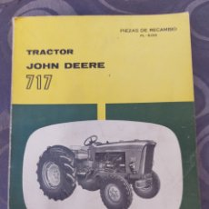 Coches y Motocicletas: TRACTOR JOHN DEERE 717. MANUAL PIEZAS RECAMBIO TALLER. EXCELENTE ESTADO.. Lote 287870528