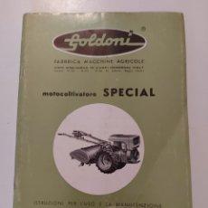 Coches y Motocicletas: INSTRUCCIONES DE USO Y MANTENIMIENTO MOTOCULTOR SPECIAL GOLDONI. 1968. Lote 287913163