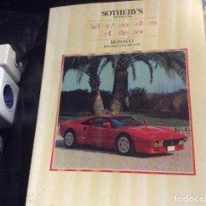 Coches y Motocicletas: SOTHEBYS BELLES AUTOMOBILES THE COLLECTION MONACO 1987. Lote 287962178