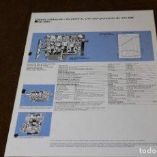Coches y Motocicletas: HOJA DE CARACTERISTICAS MERCEDES BENZ CHASIS CABINA 6X& 2629 A.. Lote 288080003