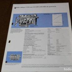 Coches y Motocicletas: HOJA DE CARACTERISTICAS MERCEDES BENZ CHASIS CABINA 1729.. Lote 288080913