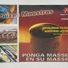 Coches y Motocicletas: PONGA MASSEY EN SU MASSEY - PIEZAS MAESTRAS MASSEY FERGUSON. Lote 288092183