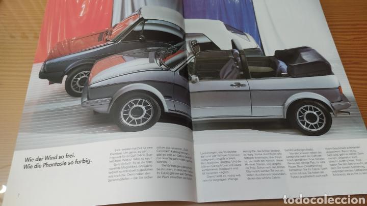 Coches y Motocicletas: Catalogo concesionario volkswagen Golf 2 Cabrio ,aleman,original - Foto 2 - 288543358