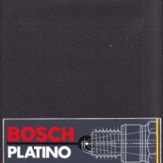 Coches y Motocicletas: BOSCH PLATINO BUJIAS - PEGATINA ADHESIVO STICKER - MOTOR CLASICO AUTOMOVIL MOTOCICLISMO. Lote 288544963