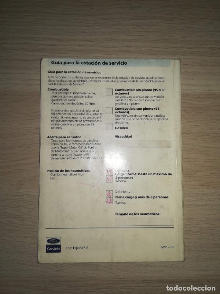 Coches y Motocicletas: Manual del propietario Ford Sierra 1991 - Foto 3 - 288545093