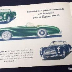 Coches y Motocicletas: CATALOGO PEGASO - 1954 - MODELO Z-102. Lote 288903088