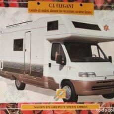 Coches y Motocicletas: 1990`S CATÁLOGO CARAVANAS C.I. ELEGANT - NACEN EN GRUPO Y VIVEN LIBRES. Lote 289478823