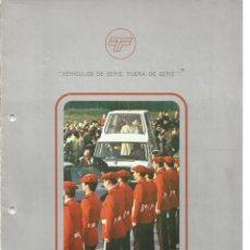 """Voitures et Motocyclettes: TECNITRADE INTERNACIONAL """"EL PAPAMÓVIL"""" ESPAÑOL, FOLLETO 4 PÁGINAS + 3 FOTOS CON SELLO, 1982 83. Lote 290029588"""