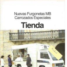 Voitures et Motocyclettes: MERCEDES-BENZ NUEVAS FURGONETAS MB CARROCERÍAS ESPECIALES TIENDA 1987 FOLLETO 4 PÁGINAS. Lote 290031098