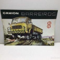 Coches y Motocicletas: ANTIGUO FOLLETO PUBLICITARIO - FICHA TECNICA CAMION BARREIROS DIESEL PANTER TB - 241 - ORIGINAL 1961. Lote 290523498