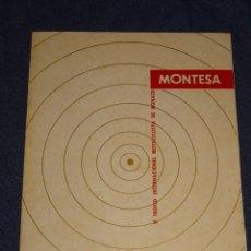 Coches y Motocicletas: (M) MOTOCICLISTAS MONTESA - V TROFEO INTERNACIONAL MOTOCICLISTA DE MONACO MONTESA 1954 ILUSTRADO. Lote 290953573