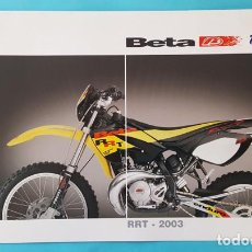 Coches y Motocicletas: CATALOGO DIPTICO BETA RRT 2003, ENDURO MOTO FOLLETO BROCHURE. Lote 293626343