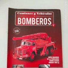 Coches y Motocicletas: FASCÍCULO 7 GRÚA BERLIET TBO 15 COLECCIÓN CAMIONES Y VEHÍCULOS DE BOMBEROS PEGASO SALVAT NUEVO. Lote 294166803