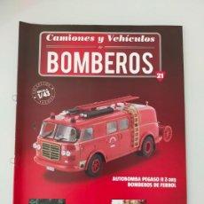 Coches y Motocicletas: FASCÍCULO 21 PEGASO II Z-203 COLECCIÓN CAMIONES Y VEHÍCULOS DE BOMBEROS PEGASO SALVAT NUEVO. Lote 294170393