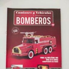 Coches y Motocicletas: FASCÍCULO 22 VMA 75 WILLEME W8 DAE COLECCIÓN CAMIONES Y VEHÍCULOS DE BOMBEROS PEGASO SALVAT NUEVO. Lote 294171093