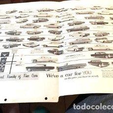 Coches y Motocicletas: POSTER FORD MODELOS AMERICANOS 1959. Lote 294298028