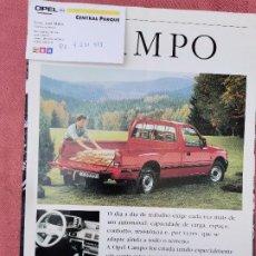 Coches y Motocicletas: CIRCA 1990 CATALOGO OPRL CAMPO. Lote 297177873