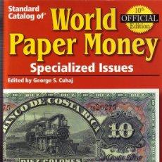 Catálogos y Libros de Monedas: WORLD PAPER MONEY. BILLETES ESPECIALES 7 EDICIÓN.. Lote 25279086
