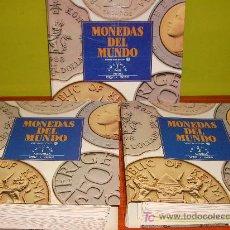 Catálogos y Libros de Monedas: COLECCIÓN EN 3 TOMOS DE MONEDAS DEL MUNDO. Lote 32058352