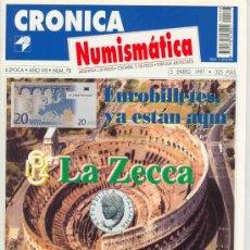 Catálogos y Libros de Monedas: CRONICA NUMISMATICA Nº 78 ENERO 1997. Lote 7211866